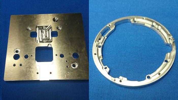 アルミニウムの加工品です。試作部品製作します。